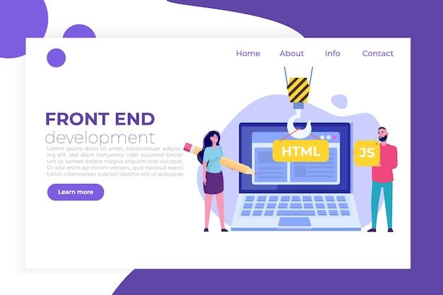 프로그래밍 소프트웨어 또는 앱, 웹 및 프런트 엔드 개발 개념.