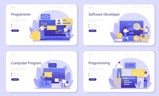 Programming web banner or landing page set