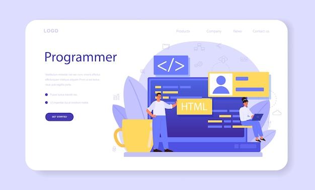 Programming web banner or landing page