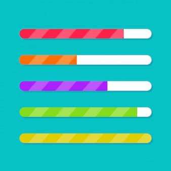 Progress bar downloading or updating control indicator vector set