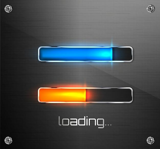 모바일 앱 또는 웹 프리 로더를위한 진행 로딩 바.