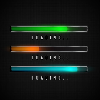 Progress loading bar for mobile apps or web preloader.