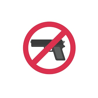 Prohibiting sign for weapon