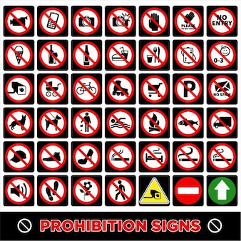 Нет символов знаков запрета
