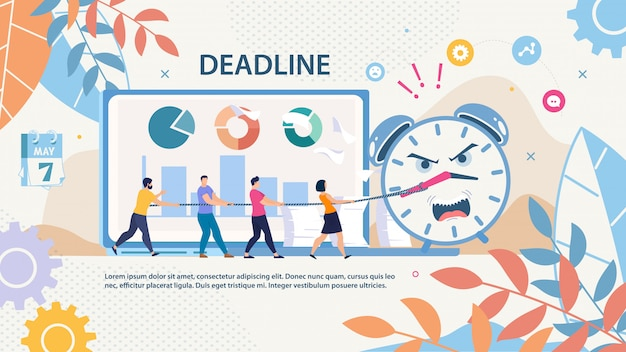 Project deadline failure  banner template