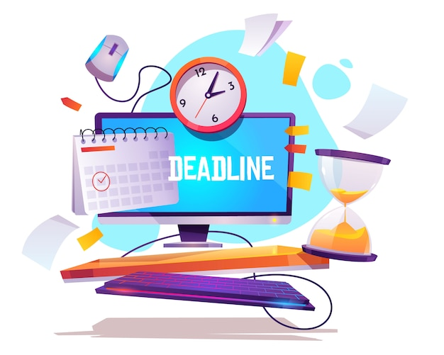 Project deadline, job organization poster