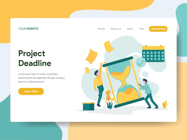 Project deadline for website page