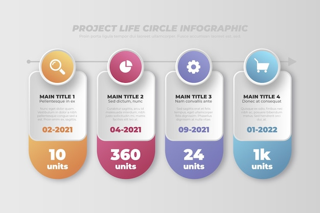 Project life cycle infographics