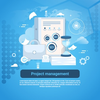 Project management business template web banner