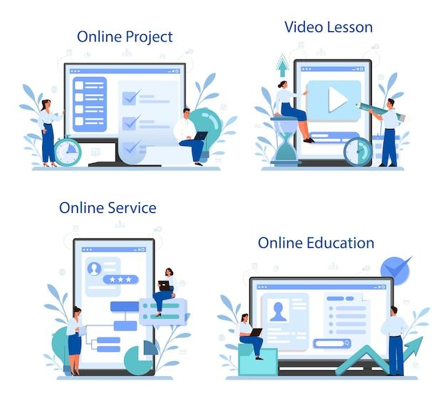 Project management online service or platform set