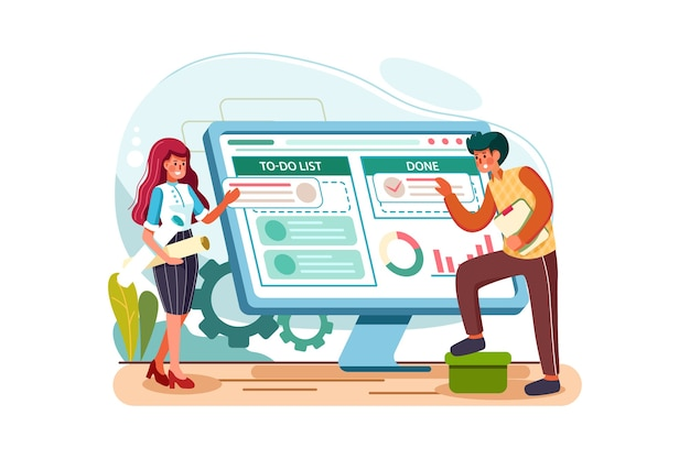 Project management vector illustration concept