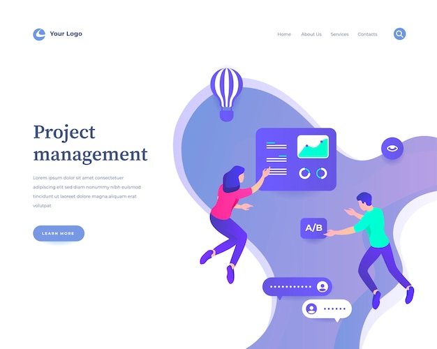 Project management web template