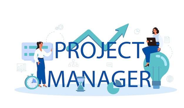 Project manager typographic header