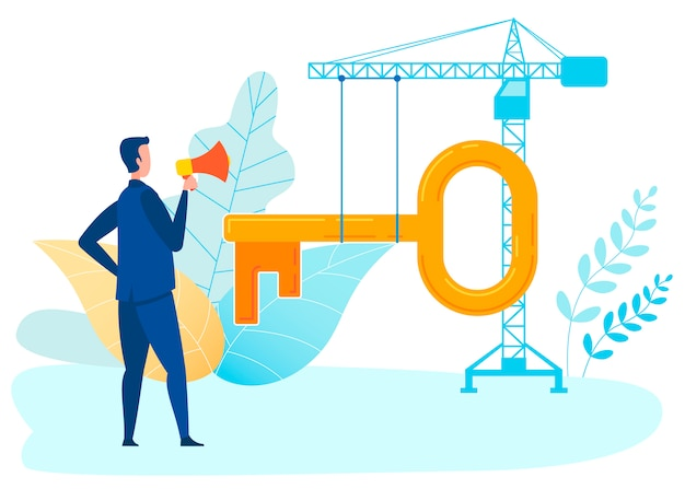 Project monitoring metaphor vector illustration