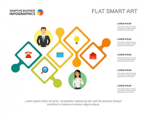 Modello di diapositiva di pianificazione del progetto. dati aziendali grafico, grafico
