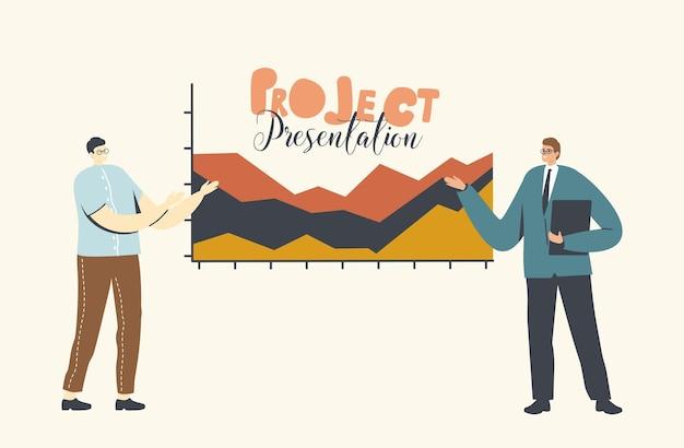 プロジェクトプレゼンテーション、。オフィスでのビジネスミーティング