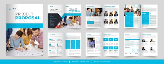 Project proposal or business proposal template design