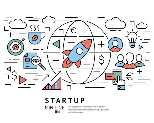 Project startup planning icons