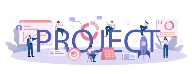 Project typographic header illustration