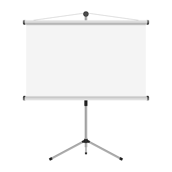 Projection screen   illustration  on white background