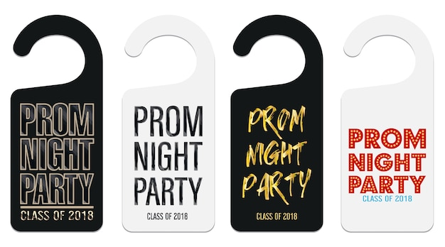 Prom night party room door hanging template