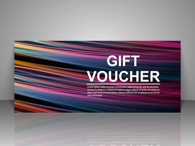 Promo gift voucher template