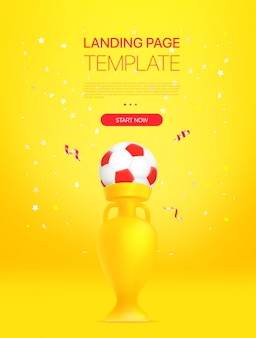Promo landing page template with a golden prize