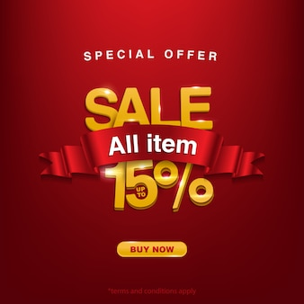 Promo, special offer sale all item up to 15%