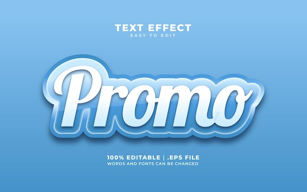 Текстовый эффект в стиле промо с синим цветом