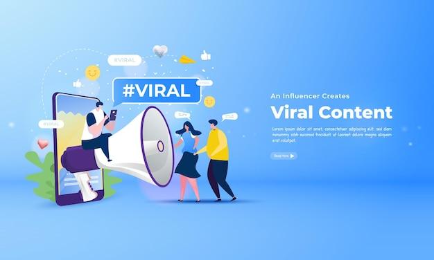 Продвигайте влиятельных лиц вирусного контента в социальных сетях