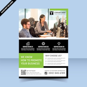 Promotion agency to improve your business flyer design template
