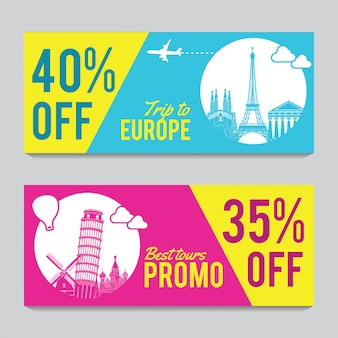 Promotion banner for europe travel