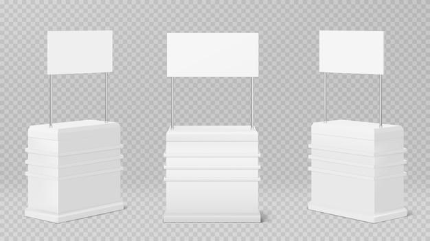 プロモーションカウンターテーブル、透明に分離されたプロモーションキオスク