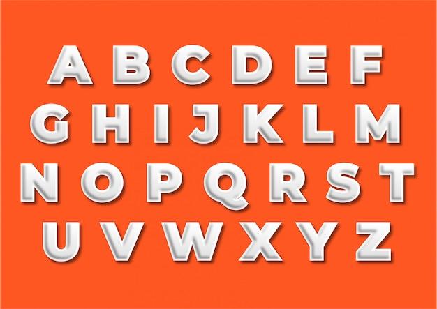 Promotion decoration title alphabet set