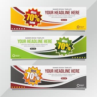 Promotion discount banner design