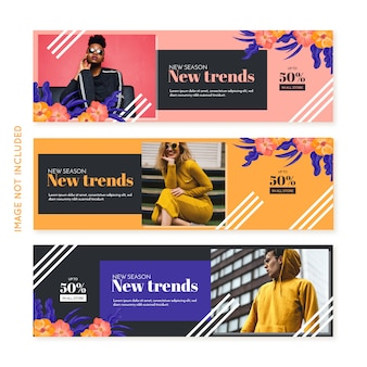 Promotion fashion banner collection