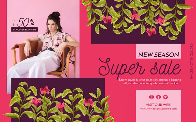 Promotion fashion banner