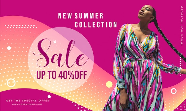 Promotion fashion sale banner template design