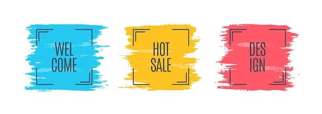 プロモーションオリジナルバナー、販売背景、値札。ベクトルイラスト