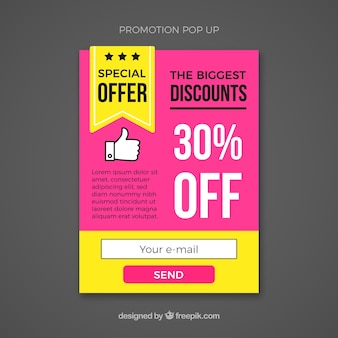 Promotion pop up template