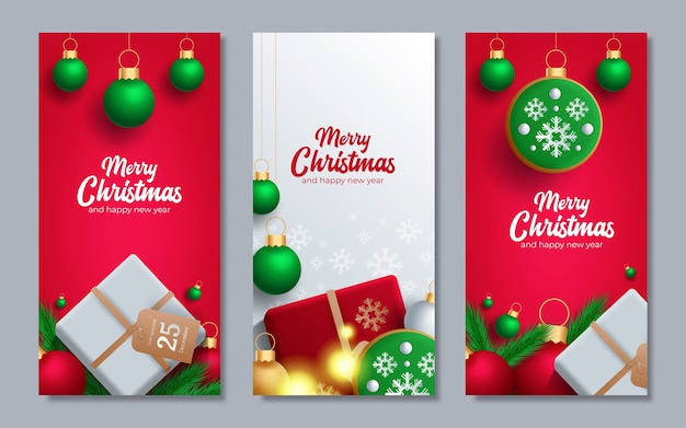 Promotion poster with christmas balls, santa hat, gift boxes, confetti and place for text.