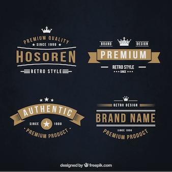 Promotion retro badges