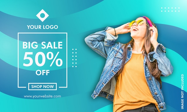 Promotion sale banner template