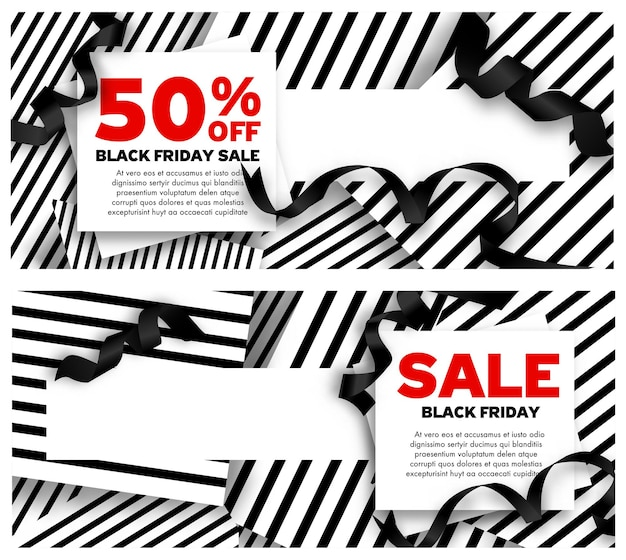 Promotion and sale on black friday, special discounts and reduction of price in autumn