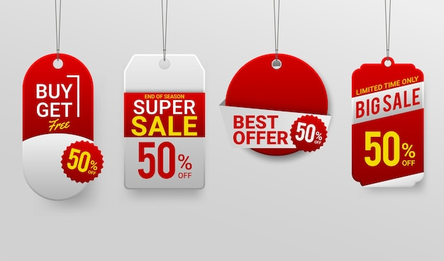 Promotion sale labels best offers