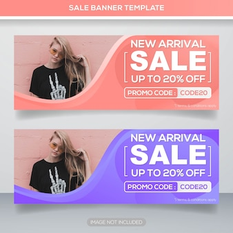 Promotion sale web banner template