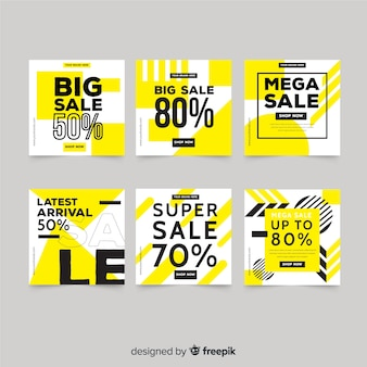 Collezione di banner quadrati di promozione