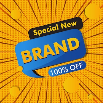 Promotion template on social media for sale