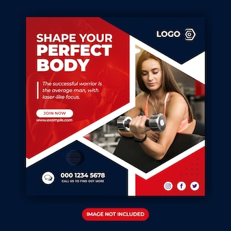 Promotional banner template