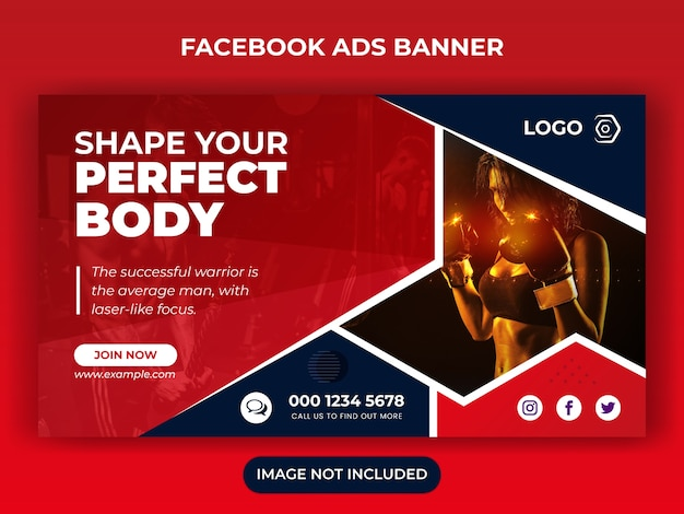 Шаблон рекламного баннера